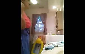 Stepsister in Bathroom Caught by Hidden Cam