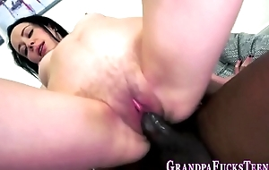 Teen facial with old dong