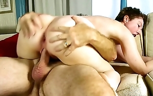 Dirty old spunker enjoys a hard fucking and a sticky facial cumshot