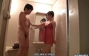 Good looking Asian fairy urgently takes away shy dude'_s virginity