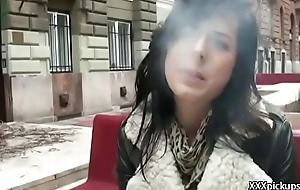 Public Pickups - Amateur Euro Slut Seduces Tourist For Fuck And Cash 11