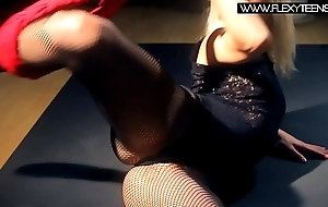 Hardcore fishnet stretching Elena Proklova