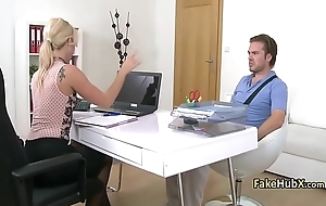 Guy fucks sexy stockings cast agent