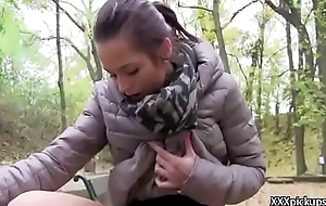 European Teen Amateur Girl Seduces Tourist For A Blowjob 14