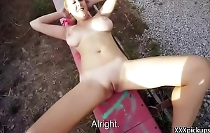 European Teen Amateur Girl Seduces Tourist For A Blowjob 27