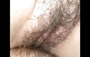 Amateur wife takes thick bushwa in big wet hairy pussy