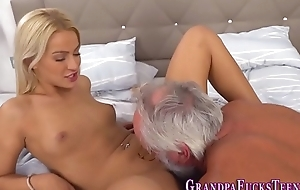 Teen spunks old mans cock