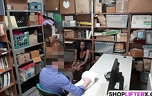 Busty Negroid Teen Failed At Shoplifting