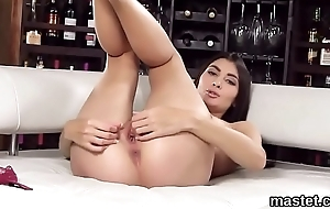 Wicked czech chick opens up her spread crack to the unusual
