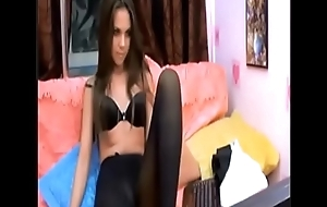teen at home in the matter of black pantyhose  1