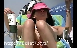 Shooting every detail of beach nudists  hidden cam video